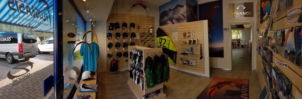 Der Gleitschirm Shop in Spiez, Berner Oberland bietet ein grosses Sortiment. Unter anderem Gleitschirme, Zubehör, Gurtzeug und Vario.
